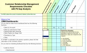 crm requirements template needs assessment exle template business