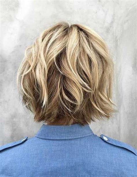 back views of choppy layered bob haircuts choppy layered bob razor haircut view back of short