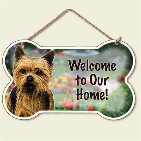 yorkie welcome sign husky pug yorkie wood door wall sign new welcome ebay