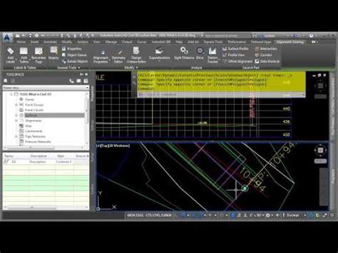tutorial autocad civil 3d 2015 civil 3d roadway corridor alignment profile surface
