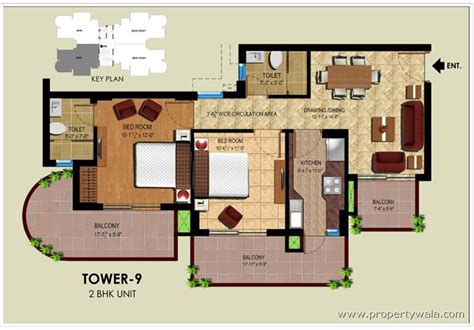 2 bhk floor plans ansal royal heritage sector 70 faridabad residential