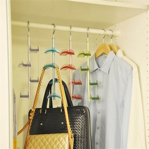 door hanging shelves new 4 hooks handbag bag holder shelf hanger hanging rack