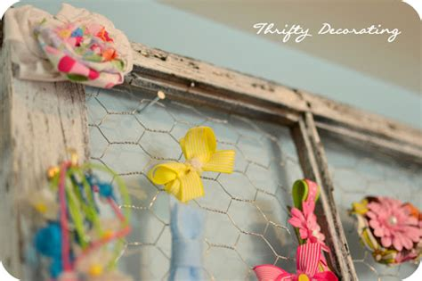 Thrifty Decorating Old Window Hairbow Holder | thrifty decorating old window hairbow holder