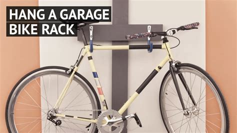 how to hang a picture hang a garage bike rack youtube