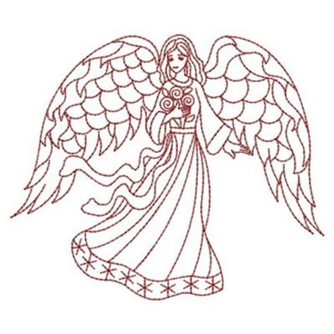 embroidery design angel redwork angel embroidery designs machine embroidery