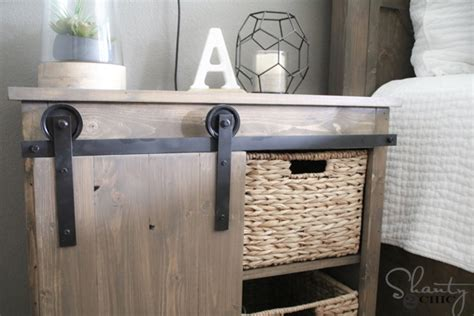 Sliding Barn Door Nightstand Diy Shanty 2 Chic Barn Door Hardware Diy