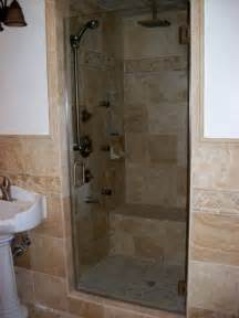 glass doors small bathroom: inspired frameless shower door in bathroom traditional with tile