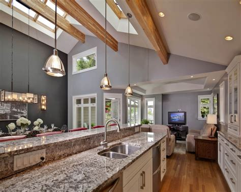 Contemporary Decoration For Vaulted Ceiling Kitchen Kitchen Lighting For Vaulted Ceilings