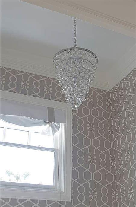 grey wallpaper trellis gray trellis wallpaper transitional bathroom belmont