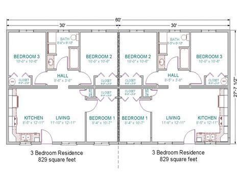 duplex home plans 3 bedroom duplex floor plans simple 3 bedroom house plans