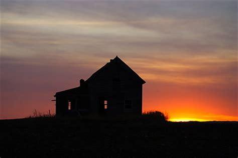 sunset house in north dakota