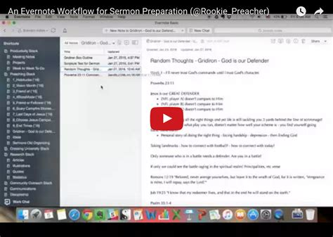 evernote workflow evernote sermon prep workflow archives rookie preacher