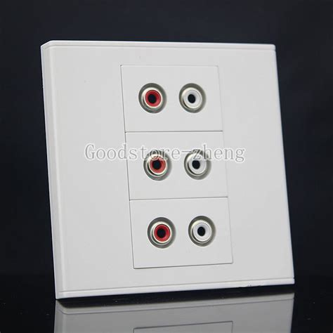 Faceplate Audio Rca Panel Outlet Socket popular av panel buy cheap av panel lots from china av