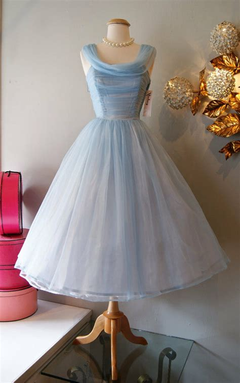 short vintage tulle evening dresses tea length