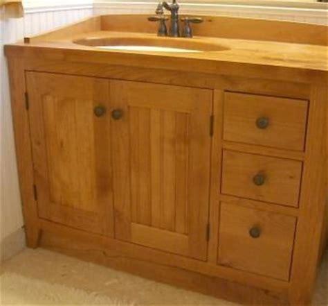 custom solid wood shaker vanity by daedalus custommade