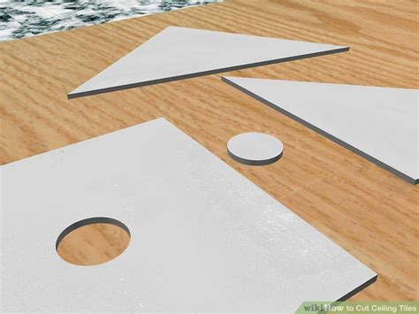 how to cut ceiling tiles 8 steps with pictures wikihow