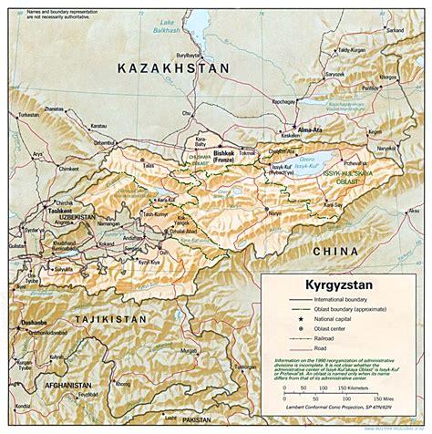 kyrgyzstan map kyrgyzstan maps perry casta 241 eda map collection ut library