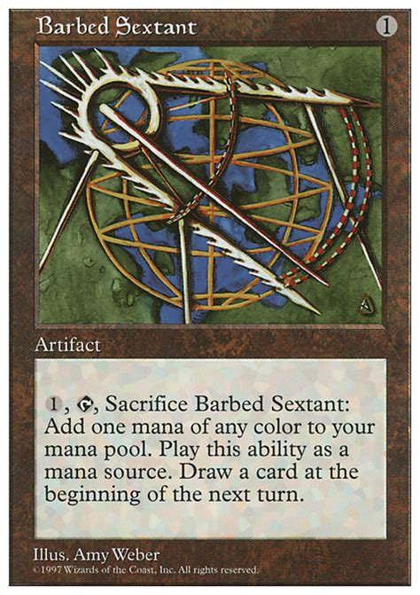 sextant information barbed sextant magic the gathering card info
