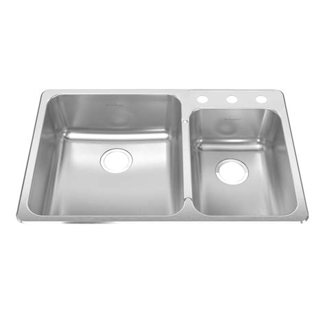 American Standard Stainless Steel Kitchen Sinks Shop American Standard Prevoir 18 Basin Drop In Stainless Steel Kitchen Sink At