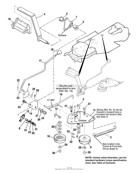 simplicity mower deck diagram simplicity 1692425 broadmoor 15hp gear and 44 quot mower