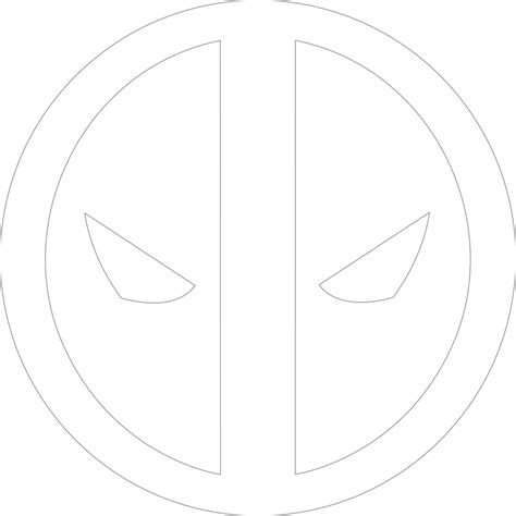 deadpool symbol coloring pages deadpool logo 1 outline by mr droy on deviantart
