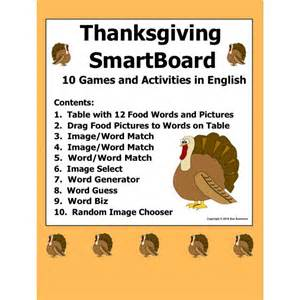 activities thanksgiving thanksgiving smartboard games vocabulary and activities