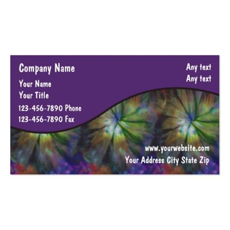 tie dye business card templates tie dye business cards zazzle