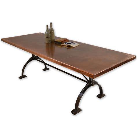 Copper Dining Table Copper Dining Table Copper Top Table Andrew Nebbett Designs