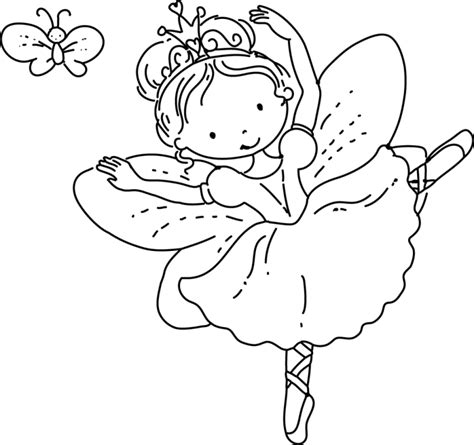 Coloring Page Fairy Princess  Free Pages On Masivy sketch template