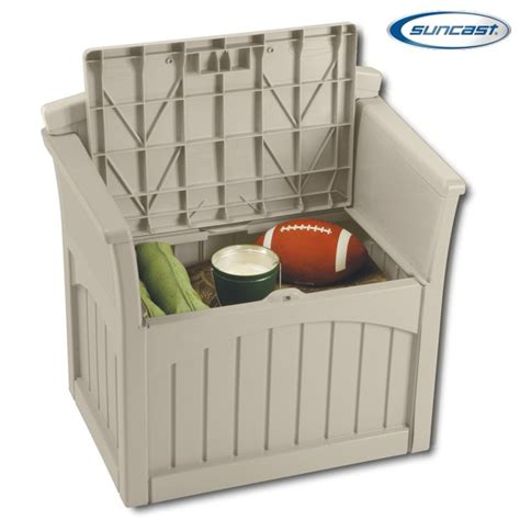suncast pb2600 resin patio storage seat