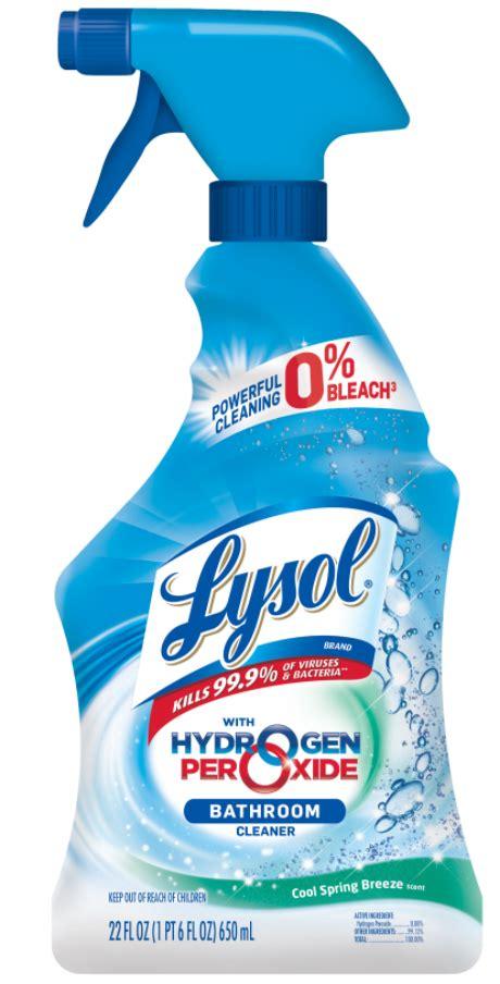 lysol hydrogen peroxide bathroom cleaner cool spring breeze