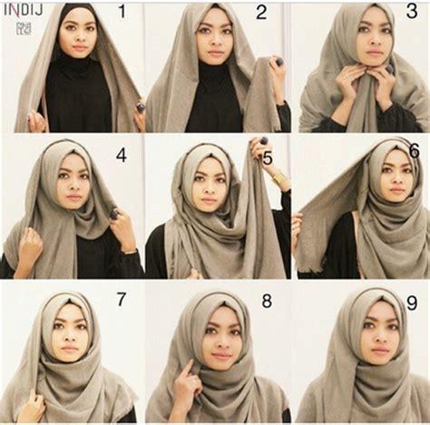 tutorial hijab pashmina simple terbaru 2015 aneka tutorial kerudung pashmina kusut gaya terbaru