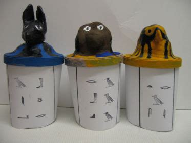 How To Make A Canopic Jar Out Of Paper - canopic jars craft