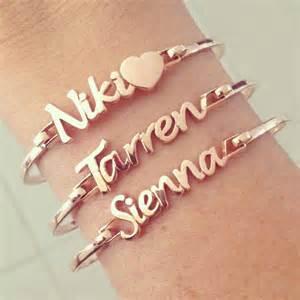 Bracelets With Names Rose Gold Name Bracelets Jewelry Trends Pinterest
