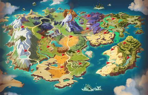 game design world map dragonmon hunter world map png 1200 215 769 mapas