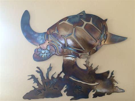 metal turtle wall decor underwater sea turtle metal wall decor by