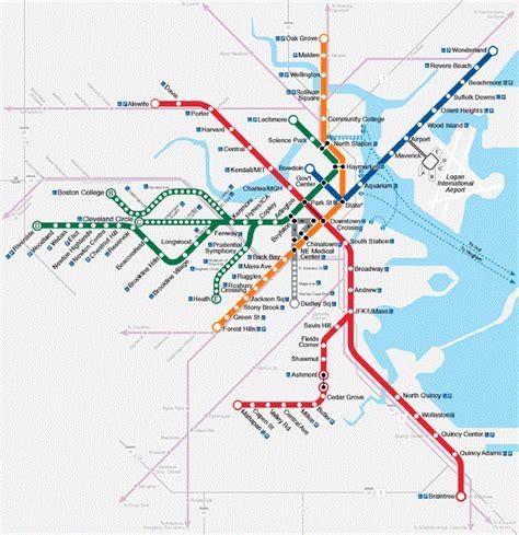 boston transit map transit initiatives boston s transit system