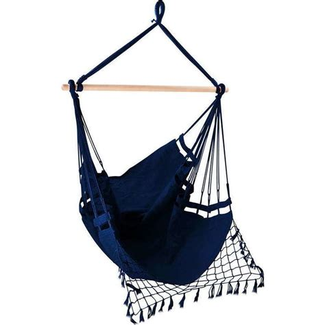 hanging chair rail hanging hammock chair with timber rail navy buy