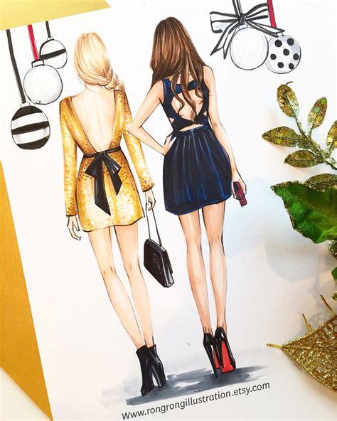 fashion illustration description best friend fashion illustrationbest friends gift gossip