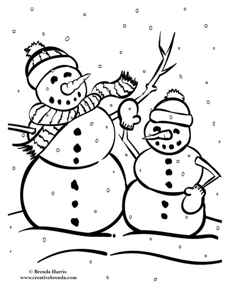 winter coloring page pdf winter coloring pages creative brenda