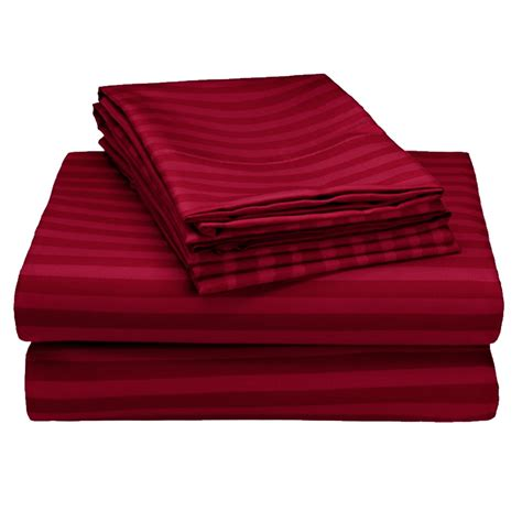 Striped Bed Sheets by 4 Set 1800 Series Embossed Striped Bed Sheet Collection