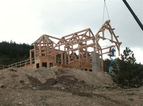 build a frame house timber frame homes precisioncraft timber homes post