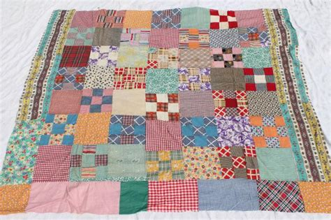 Stitched Patchwork Quilt - stitched patchwork quilt top a rainbow of colorful