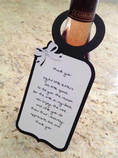 thank you letter wine gift 370 best images about appreciation on