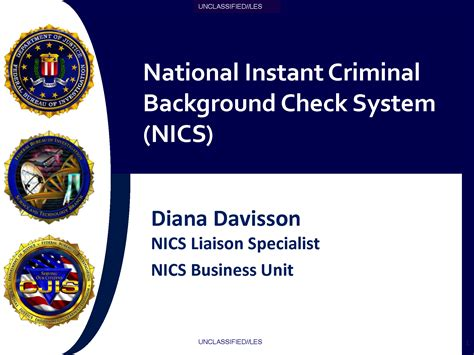 Doj Background Check U Les Fbi National Instant Criminal Background Check System Nics Presentation