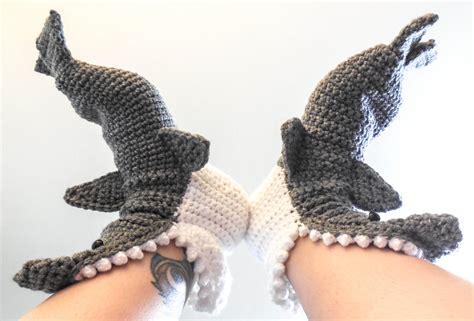 shark slippers for adults crochet shark slippers sizes 6 12 grey crochet