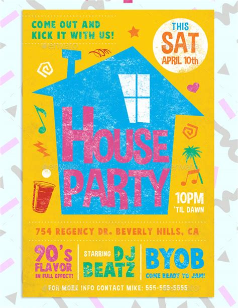 house party flyers design 25 best psd flyer designs 2016 poster idesignow