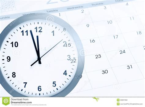 Calendar Clock Clock And Calendar Stock Photo Image 53637050