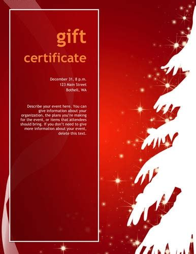 gift certificate christmas template free download search
