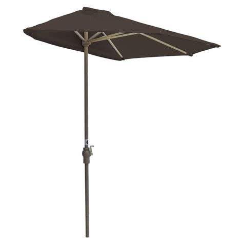 Gray Patio Umbrella Hton Bay Statesville 9 Ft Steel Crank And Tilt Patio Umbrella In Gray Yjauc